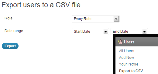 Export Users to CSV