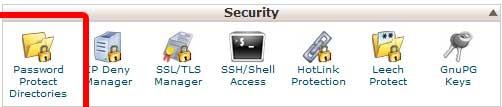 Password Protect Directories