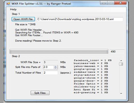 WordPress XML Splitter utility