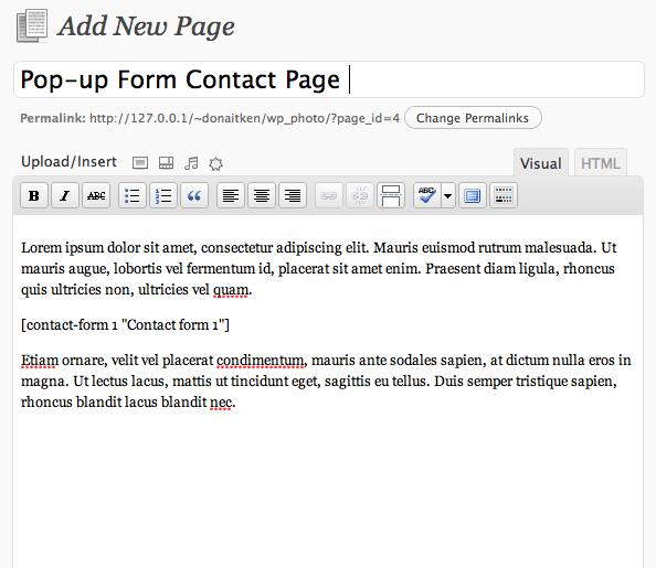 Правим страницу в WordPress
