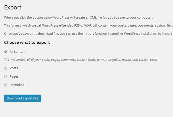Export Content