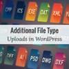Как добавить дополнительные типы файлов для загрузки в WordPress
