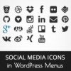 Как добавить значки социальных сетей в меню WordPress